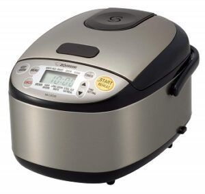best_small_rice_cookers_of_2020_zojirushi_NS-LGC05XB_micom_rice_cooker_and_warmer_3_cup_1
