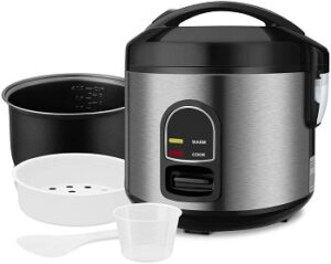 REDMOND_electric_rice_cooker_food_steamer_5_cup_uncooked_small_stainless_steel_rice_cooker_multi-food_steamer_1-step_automatic_smart_rice_warmer