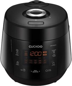 cuckoo_crp-pk1001s_multifunctional_and_programmed_electric_pressure_rice_cooker_non-stick_pot_intelligent_cooking_algorithm_make_in_korea_10_cups_black